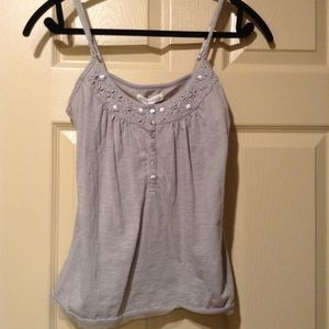 Gray cami size M with very pretty design on from